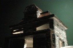 Homemade haunted house model