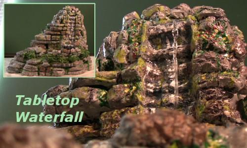 tabletop waterfall
