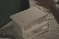 Haunted house Styrofoam sculpting