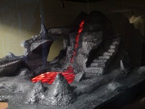 Fake rock volcano